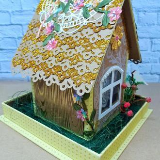Конфетница-домик подарочная коробка