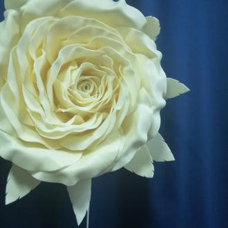 Бра или настольный светильник (2 в 1). Роза цвета айвори. (заводской плафон)