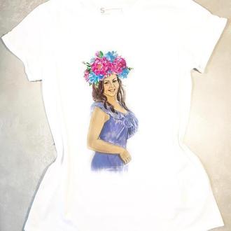 Женская футболка с портретом