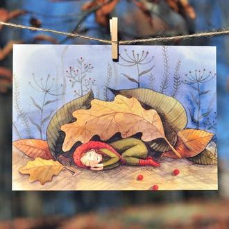 """Листівка """"Осінній сон"""""""