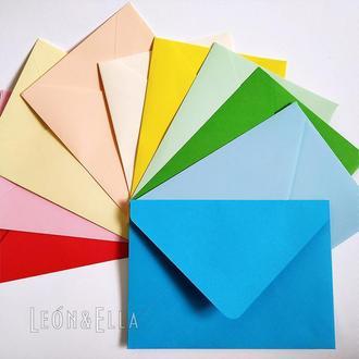 Набір кольорових конвертів 10шт, Асорті