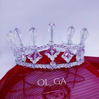"Диадема, тиара, корона ""Капля"" (ручная работа)"