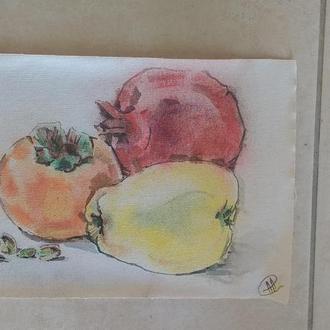 Гранат Хурма Айва Фисташки. Южные фрукты