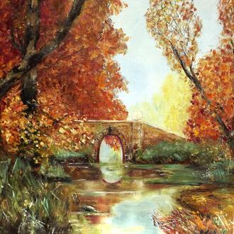 Осенний парк, холст, масло