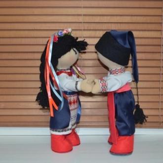 Интерьерная кукла. Пара - Украинец и Украинка