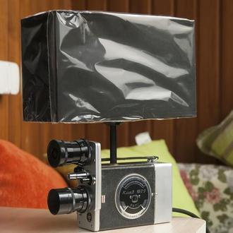 Лампа настольная на основе кинокамеры Киев 16с-3