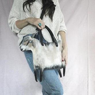 Валяная сумка Коза