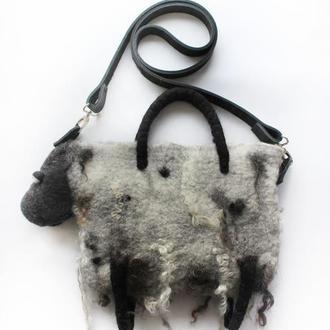 Валяная сумка Овца