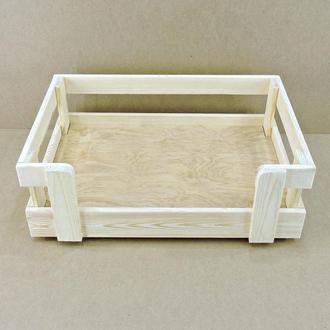 """Лежак деревянный для собаки """"Бонелли 80х50"""" бланже"""