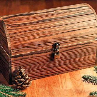 "Сундук деревянный ""Марико 35х18х20"" капучино"