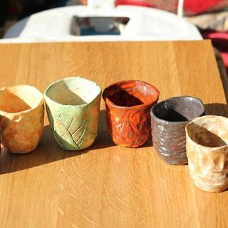 Набор 6 стаканов чаш KERRA керамика посуда подарок