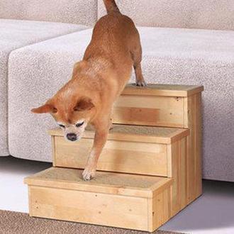 "Лестница для собак ""Мутаре"" ваниль"