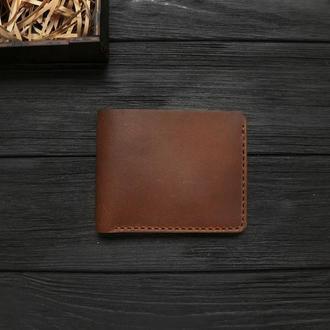 Мужской кожаный бумажник  VOILE vl-mw1-lbrn-brn
