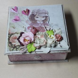 Коробочка открытка для подарков