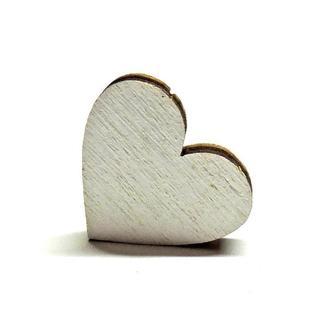 Заготовка сердце белое 2см