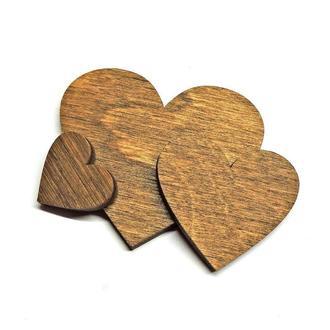 Заготовка сердце коричневое 3см