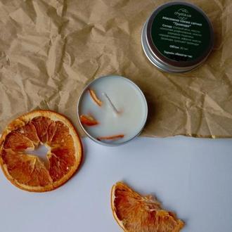Соевая свеча с эфирным маслом мандарина