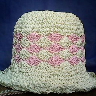 """Летняя шляпа из рафии - """"Зефир"""""""