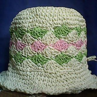 """Летняя шляпа из рафии - """"Лотос"""""""