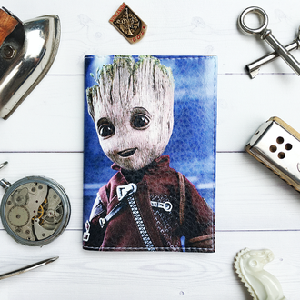 Обложка для паспорт с Groot (Стражи Галактики)