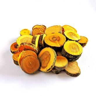 Набор спилов (срезов) ассорти жёлтых 100шт (20-35мм)