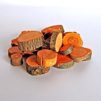 Набор спилов (срезов) ассорти оранжевых 50шт (20-35мм)