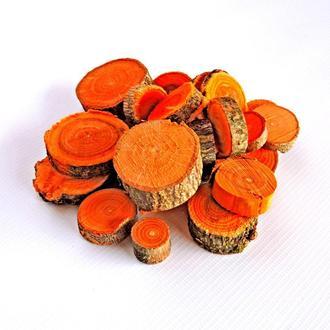 Набор спилов (срезов) ассорти оранжевых 100шт (20-35мм)