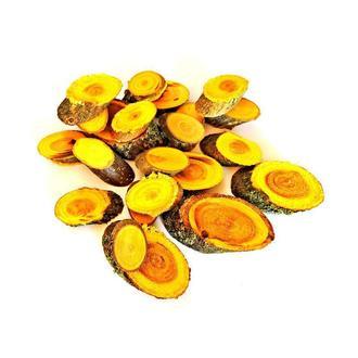 Набір спилов (зрізів) косих асорті жовтих 100шт (20-35мм)