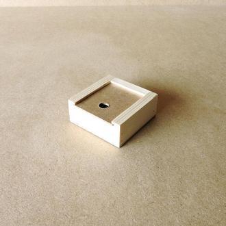 Пенал деревянный Ландыш 10х10х4см
