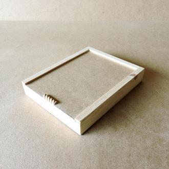 Пенал деревянный Ландыш 20х25х4см
