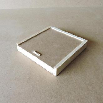Пенал деревянный Ландыш 25х25х4см