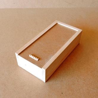 Пенал деревянный Гиацинт 15х30х8см