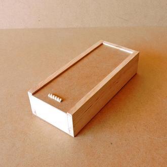 Пенал деревянный Гиацинт 15х35х8см
