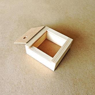 Пенал деревянный Ландыш 12х10х4см