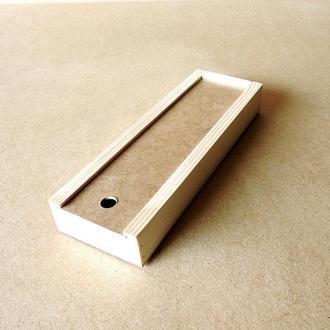 Пенал деревянный Ландыш 12х30х4см