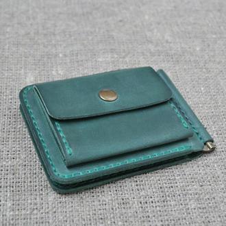 Маленький кошелек с прижимом для купюр и наружной монетницей Z05-350
