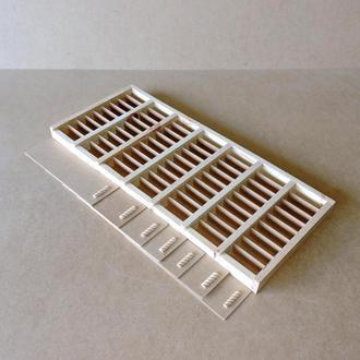 Пенал деревянный Пион 63 ячейки 70х30х4см
