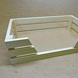 Лежак деревянный для собаки Лессер 50х30 бланже