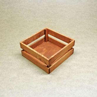 Короб для хранения Милена 220х220мм шафран