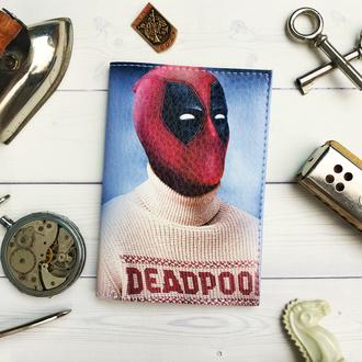Обложка на паспорт, обложка для паспорта, паспортная обложка, Marvel, Deadpool