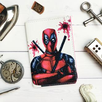 Обложка на паспорт, паспортная обложка, обложка для паспорта, Marvel, Deadpool