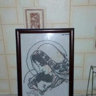 """Картина """"Мадонна"""", бисер"""