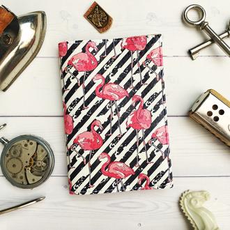 Обложка на паспорт, фламинго, паспортная обложка, обложка для паспорта