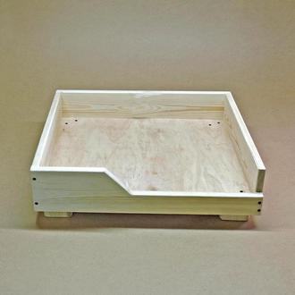 Лежак деревянный для собаки Дерби 50х60 без отделки