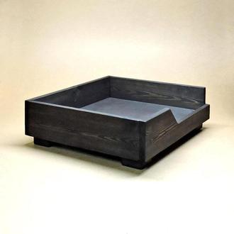 Лежак деревянный для собаки Дерби 40х50 венге