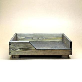 Лежак деревянный для собаки Дерби 35х45 морион