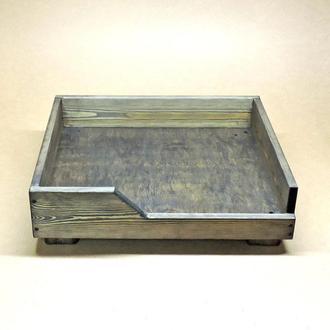 Лежак деревянный для собаки Дерби 45х55 морион