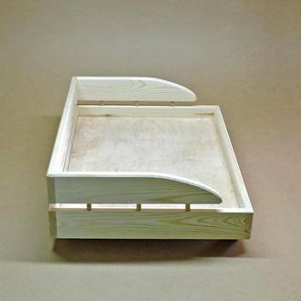 Лежак дерев'яний для собаки Кассано 50х60 без оздоблення