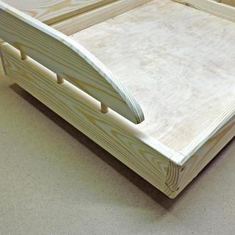 Лежак деревянный для собаки Кассано 45х55 без отделки