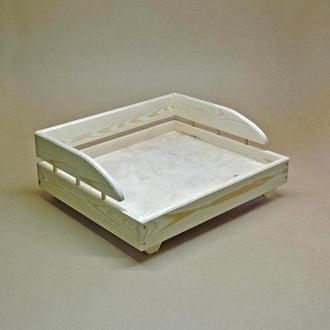 Лежак деревянный для собаки Кассано 60х70 без отделки